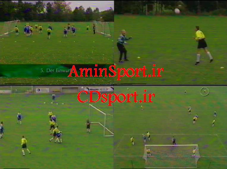 تمرینات دروازه بانی فوتبال- سانتر از جناحین- ضربات سر حمله ای