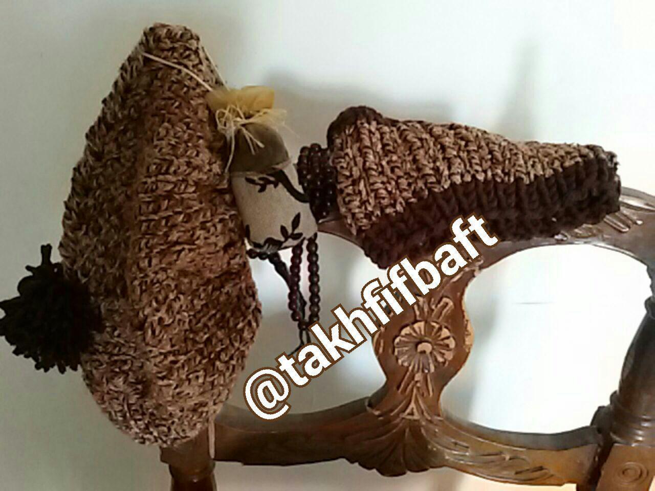 شال ( رینگی) و کلاه زنانه  دستباف اسپرت