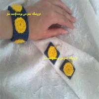 گوشواره و دستبند جین و قلاب بافی