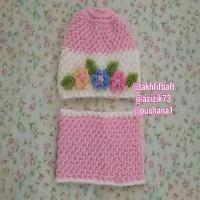 شال و کلاه دخترانه مناسب 2 تا3سال