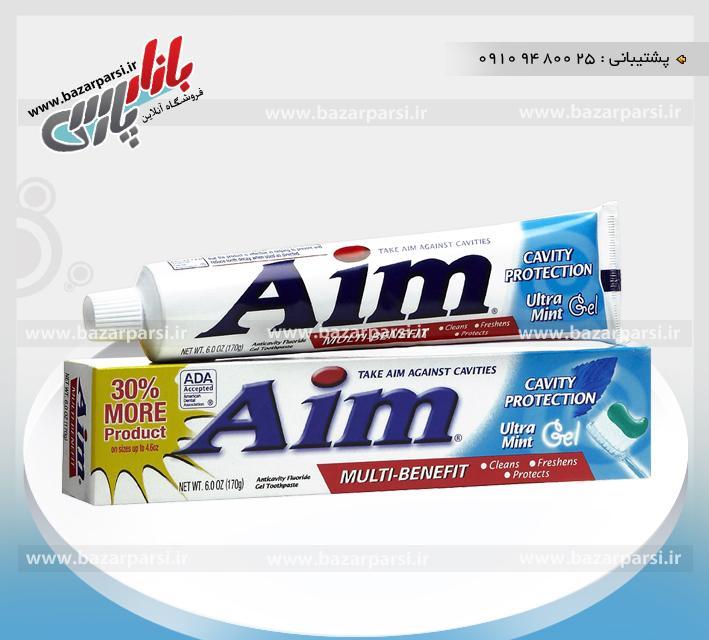 خمیر دندان Aim آمریکا - آبی