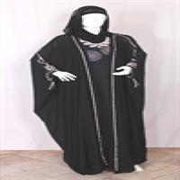 حجاب مجلسی عربی با پارچه عبا و شال حریر و ماکسی ریون اعلا