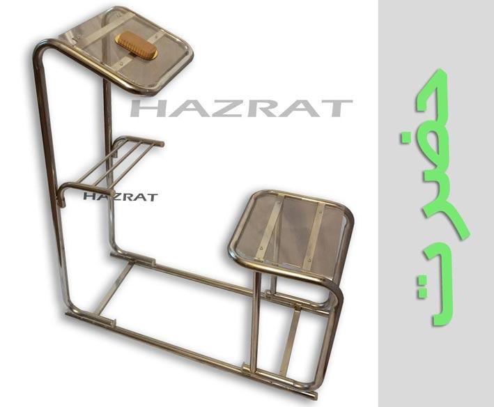 صندلی نماز حضرت(ارگونومیک ثابت استیل- طرح حرم)