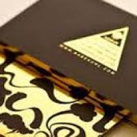 کارت ویزیت چاپ افست (1000عدد) لمینت مات موضعی 5 رنک طلایی / نقره ای