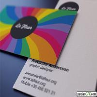 کارت ویزیت فوری دیجیتال سایز 5*9 سلفون براق دورو(بسته 300عددی)