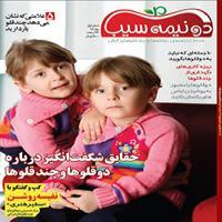 تبلیغ در مجله دو نیمه سیب