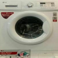 ماشین لباسشویی ال جی سفید با ظرفیت 7 کیلوگرم