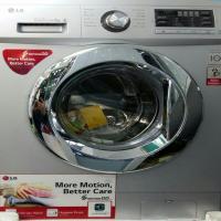 ماشین لباسشویی ال جی نقره ای با ظرفیت 8 کیلوگرم