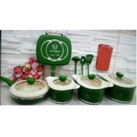 سرویس قابلمه سرامیک آرنیکا سبز رنگ