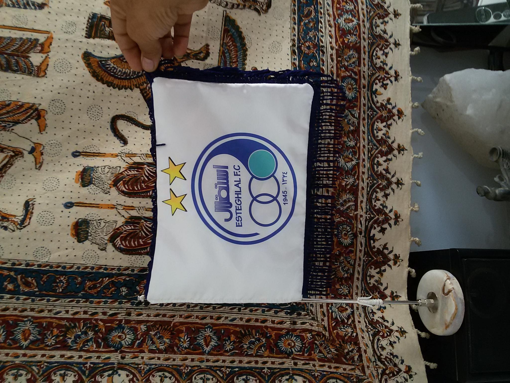 پرچم رومیزی استقلال با دو ستاره
