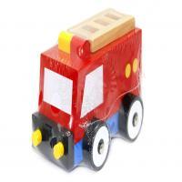 ماشین پازلی آتش نشان چوبی
