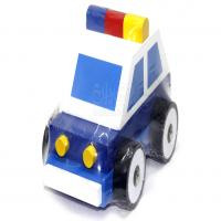 ماشین پازلی پلیس چوبی