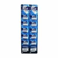 خودتراش ورقه ای 10 عددی ژیلت Gillette مدل Blue III