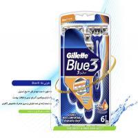 خودتراش کارتی 6 عددی ژیلت Gillette مدل Blue III
