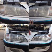 محلول شفاف کننده چراغ خودرو