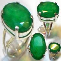 انگشتر زنانه نقره جید سبز