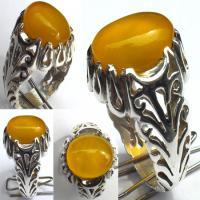 انگشتر نقره عقیق زرد(شرف شمس)