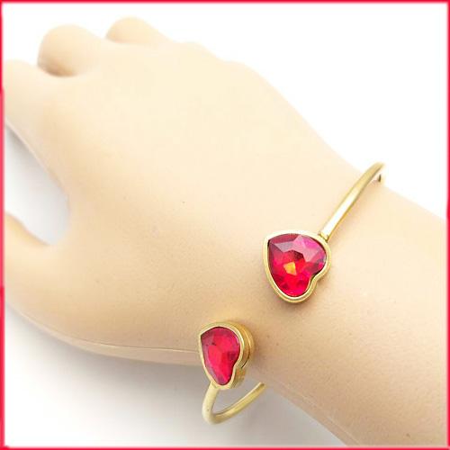 دستبند دخترانه استیل طرح دو قلب