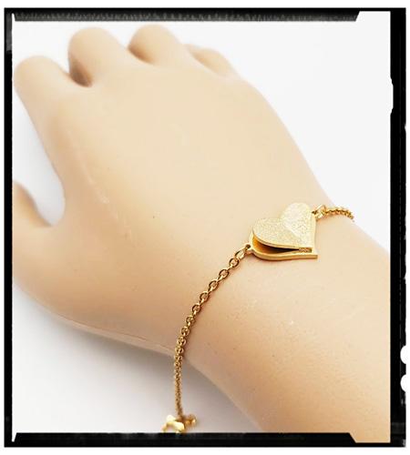 دستبند ظریف استیل طرح قلب