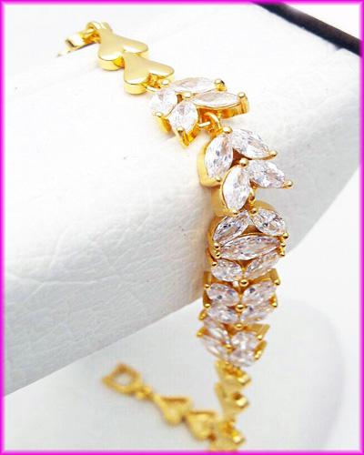 دستبند زنانه cm طرح جواهر کد 4