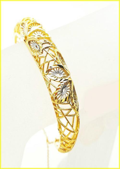 دستبند النگویی زنانه طرح طلا مدل N1