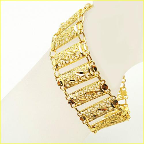 دستبند زنانه طرح طلا مدل اماراتی