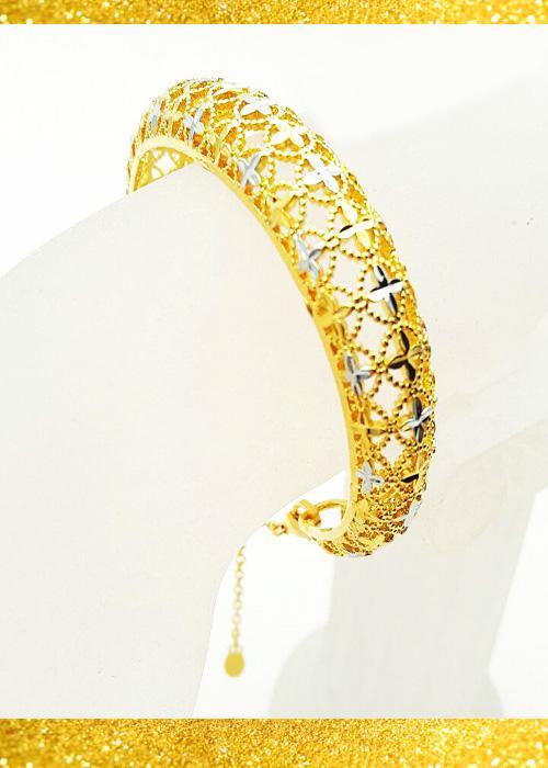 دستبند النگویی زنانه طرح طلا مدل N2