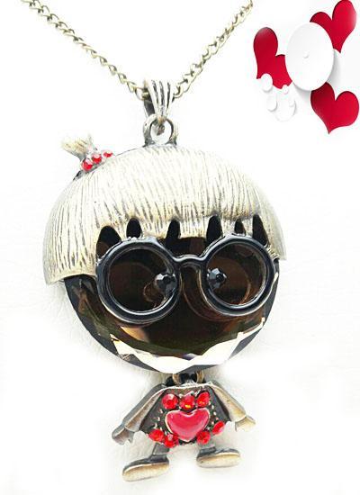 گردنبند رومانتویی دخترانه فانتزی عروسکی