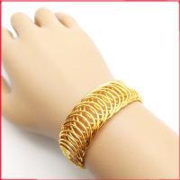 دستبند زنانه برنجی طرح طلا کد n1