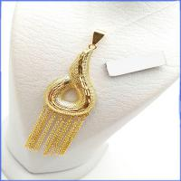 گردنبند زنانه برنجی طرح طلا کد 1 با زنجیر