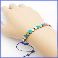 دستبند سنگ حدید طرح قلب رنگی