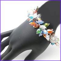 دستبند زنانه رنگی با قفل مگنتی