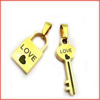 گردنبند دوتکه استیل قفل و کلید کد2 با دو زنجیر