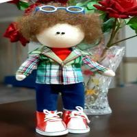 خرید عروسک روسی مدل پسر مو فرفری