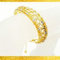 توضيحات دستبند النگویی زنانه طرح طلا مدل N2