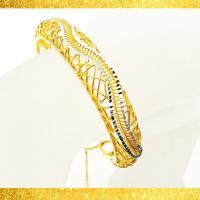 دستبند النگویی زنانه طرح طلا مدل N3