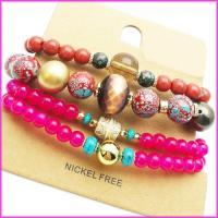 دستبند زنانه مهره ای 4 تیکه