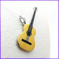 گردنبند استیل طرح گیتار با زنجیر