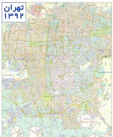 عکس نقشه تهران با کیفیت بالا