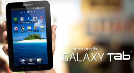 طرح اصلی Samsung Galaxy Tab 1 با صفحه 7 اینچی