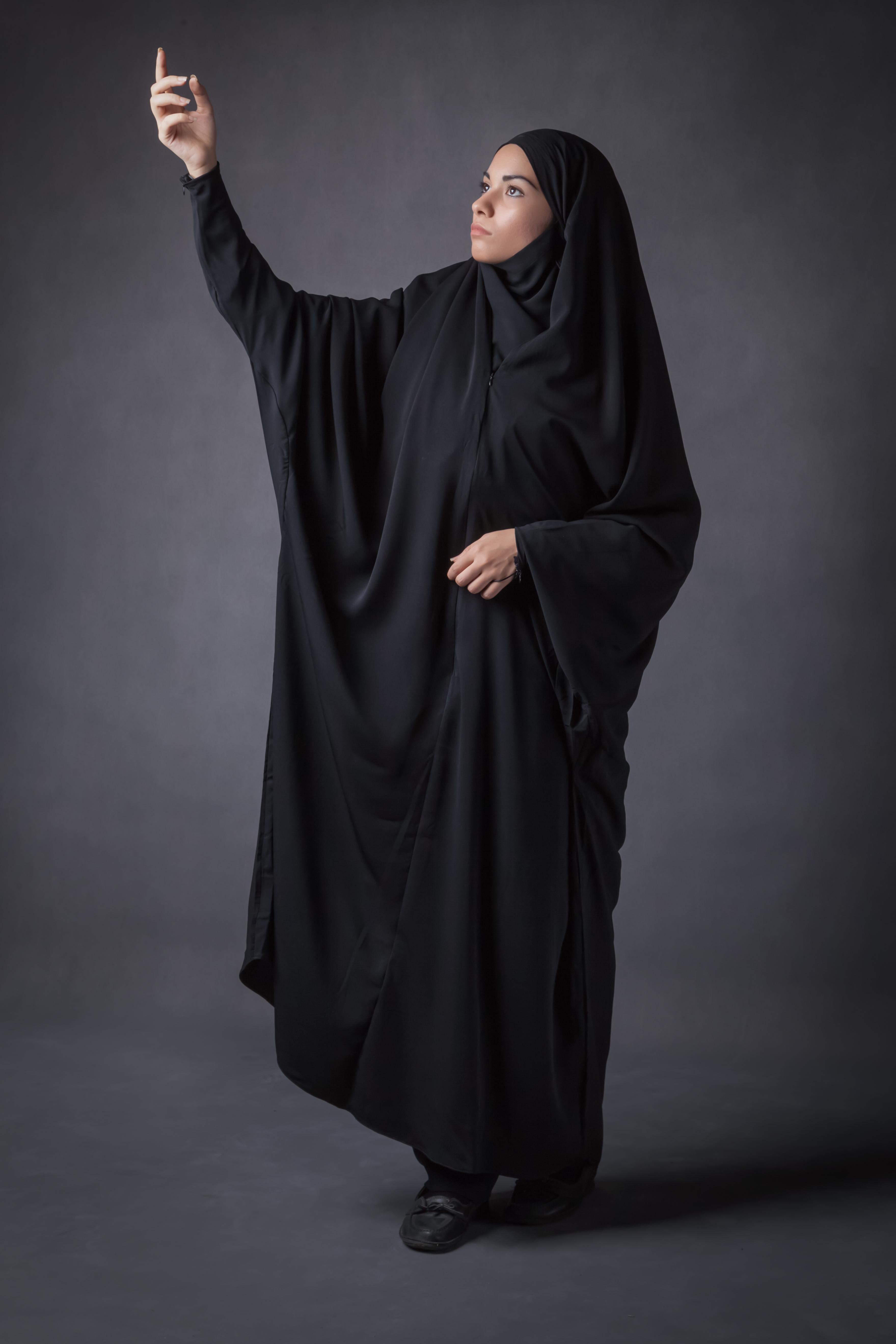 حجاب کرپ کن کن (جلابیب)