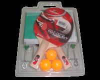 راکت تنیس روی میز جورکس دو راکته ، همراه با توپ و تورگیره