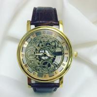 ساعت موتور باز(اسکلتون) طرح جدید طلایی