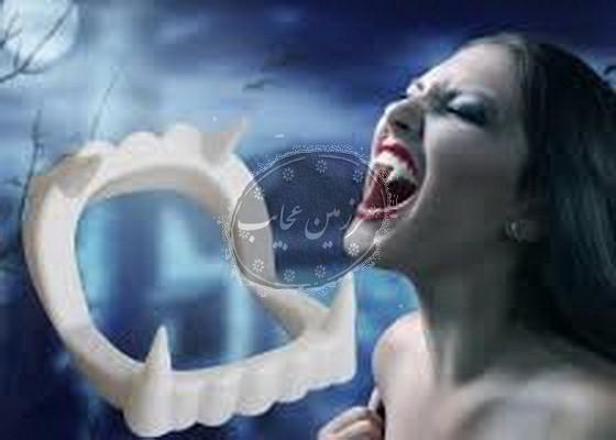 دندان دراکولا سفید نیش دار