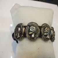 دستبند چرم طبیعی مردانه سربی سنگین وزن