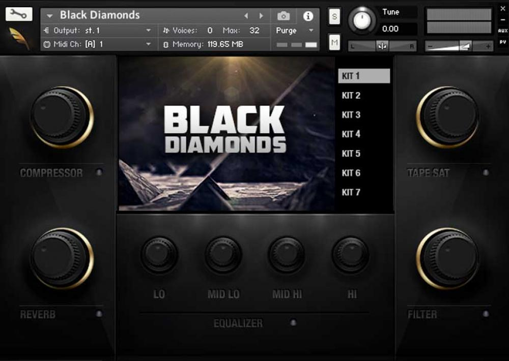 خرید اینترنتی ابزار ساخت موسیقی سبک ترپ Delicate Beats Black Diamonds