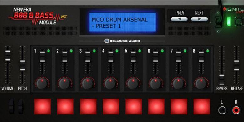 خرید اینترنتی وی اس تی درام سبک رپ و ترپ New Era 808 and Bass Module