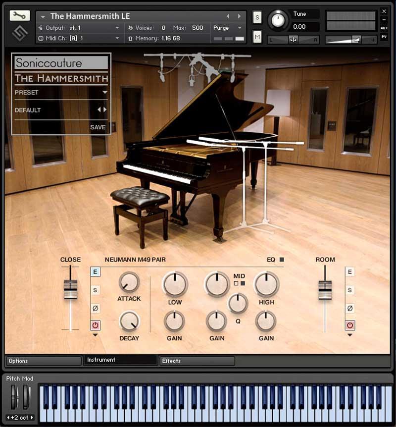 خرید اینترنتی وی اس تی پیانو  اشتنوی SonicCouture The Hammersmith Professional Edition