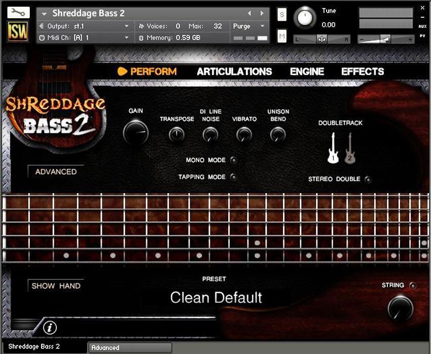 خرید اینترنتی وی اس تی گیتار بیس سبک متال راک و پاپ Impact Soundworks Shreddage Bass 2