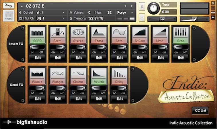 خرید اینترنتی بیت ایندی راک برپایه گیتار آکوستیک Big Fish Audio Indie Acoustic Collection